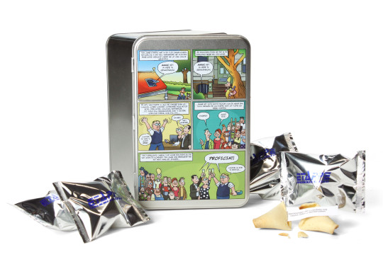 Fortune Cookies in personalized biscuit tin